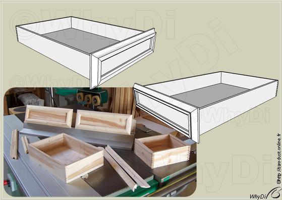 fabriquer un tiroir coulissant en bois. Black Bedroom Furniture Sets. Home Design Ideas