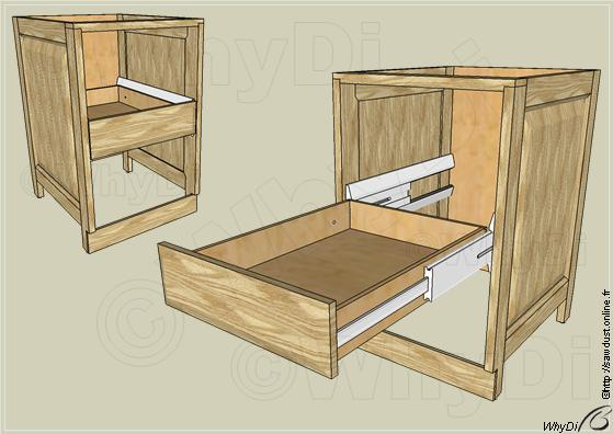 sawdust projet de coulisses de tiroir bois extension totale. Black Bedroom Furniture Sets. Home Design Ideas